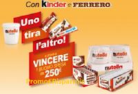 Logo Con Metro e Ferrero vinci un buono spesa da 250€ ( 50 premi in palio)