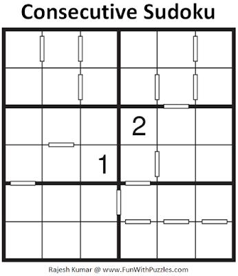 Consecutive Sudoku Puzzle (Mini Sudoku Series #113)