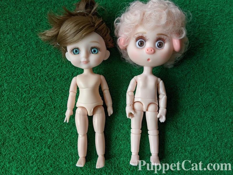 Обзор куклы 13 см с AliExpress