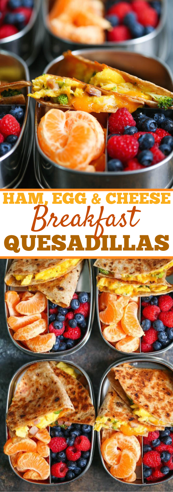 Ham, Egg and Cheese Breakfast Quesadillas #healthy #breakfast
