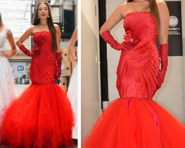 Ronaldo Esper Vestido vermelho