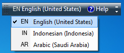 Cara setting arabic language pada windows7