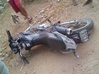 Moto tomada em assalto é recuperada pela guarnição policial de Cubati