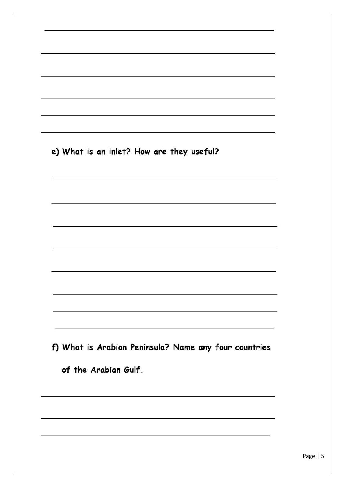 Birla World School Oman Homework For Grade 3 As On 27 12