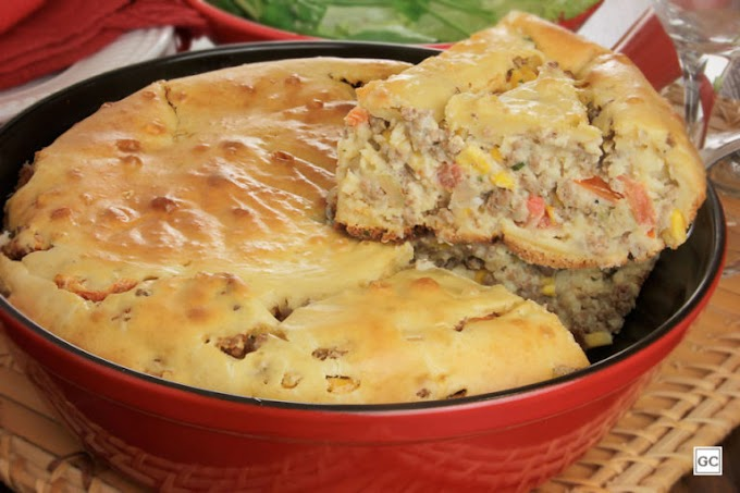 Torta de carne de frigideira: deliciosa e rápida de fazer