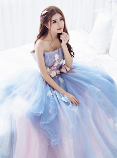 Seductive with blue wedding dresses