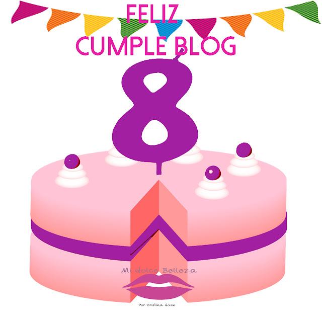 feliz 8 cumpleblog midolcebelleza