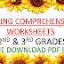 2nd & 3rd Grades Reading Comprehension Worksheets