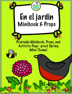 Spring Garden Theme Pack for Elementary Spanish Class