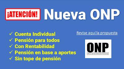 ATENCION Nueva ONP cuenta individual Pension para TODOS Con RENTABILIDAD sin topes