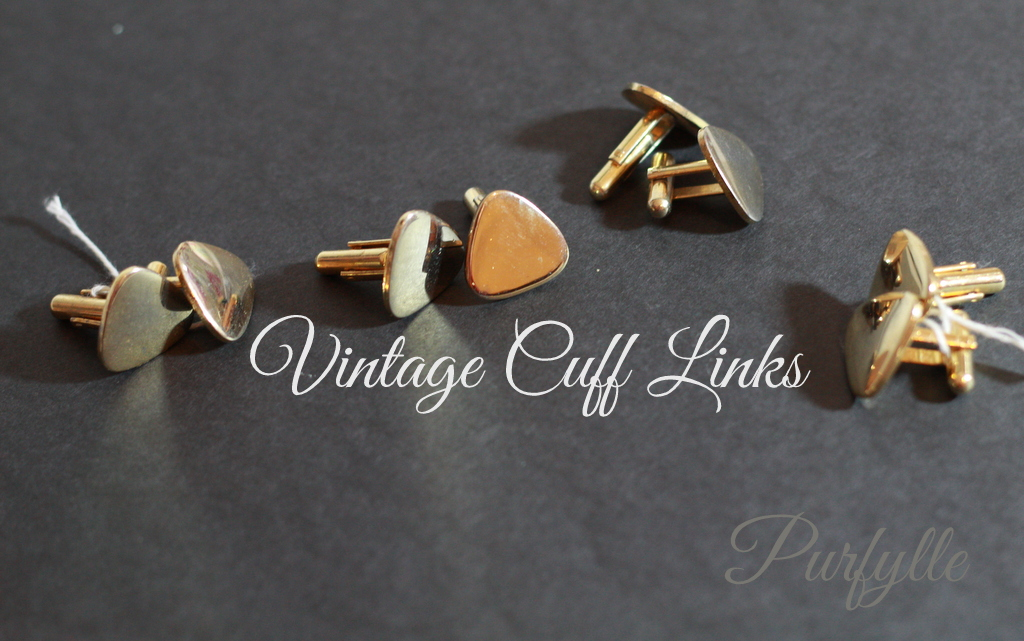 4 sets of vintage cuff links