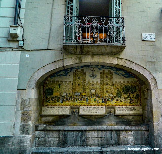 Fonte da Portaferrissa, Ramblas de Barcelona