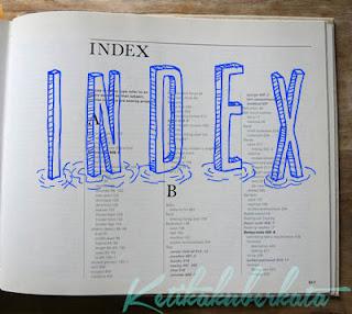 biasanya di bagian akhir kita akan menemukan halaman indeks Pengertian, Jenis, Ciri, dan Contoh Indeks