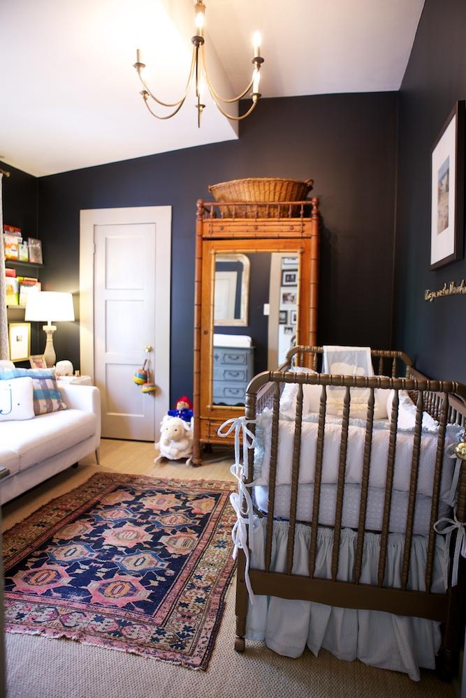 Modern Nursery Wallpaper Girl Prairie Perch Baby Spaces