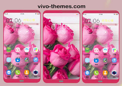 Pink Rose Flower Meaning Theme For Vivo Android