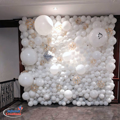 Wedding Ideas - wedding inspirations - white balloons with monogram - K'Mich Weddings Philadelphia PA - Room and Tent Decor - inflatedcreations.com