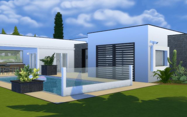 villa luxueuse sims 4