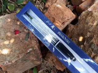 Pulpen Mewah Swarovski Crystalline Stardust Stylus Ballpoint Black Original SWK001