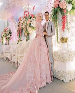 gaun pengantin muslimah 2018