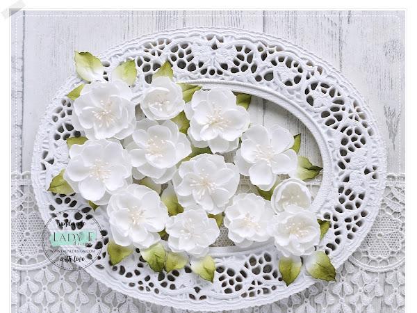 White Handmade foamiran Flowers