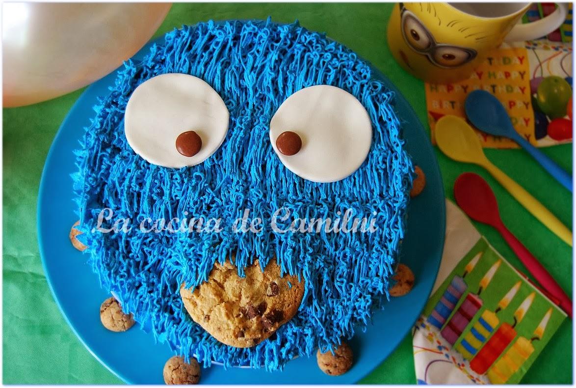 Tarta monstruo de las galletas (La cocina de Camilni)