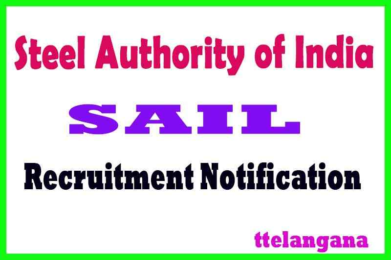 Steel Authority of India SAIL Recruitment Notification