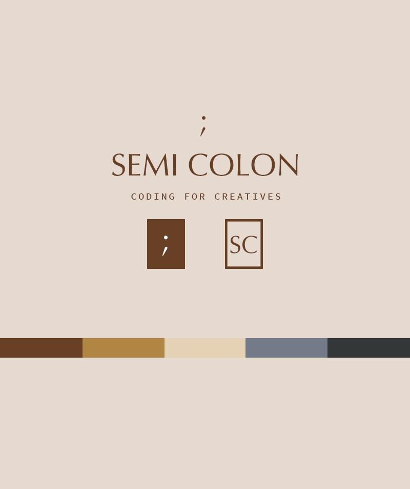 premade brand identity semi colon