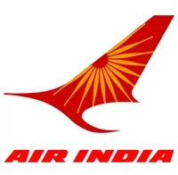 The official brand logo design of Air India airlines
