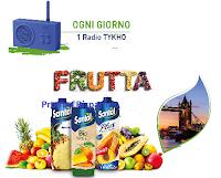 Logo ''Il sapore della frutta Conad'' e con Santal vinci Radio Lexon Tykho e soggiorno a Londra