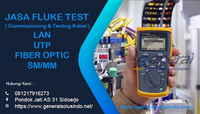 Jasa Fluke Test Fiber Optic, LAN dan UTP Profesional