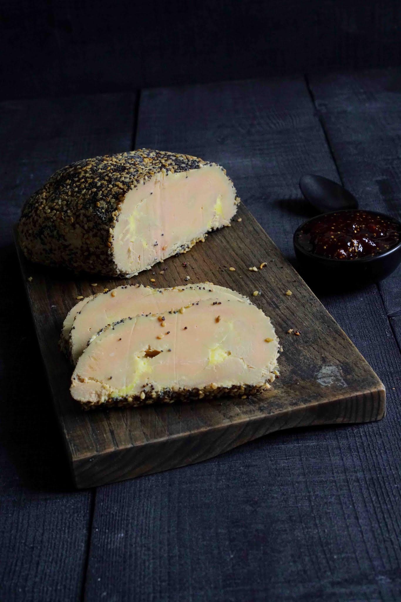 foie gras aux graines , pavot , recette facile , cuisson parfaite