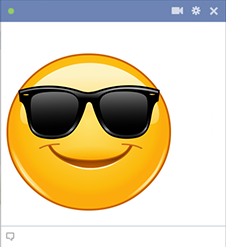 Emoji with cool sunglasses