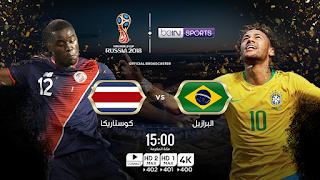 اهداف مباراه البرازيل وكوستاريكا اليوم  22-6-2018 التي انتهت بنتيجه 2 - 0 لصالح البرازيل