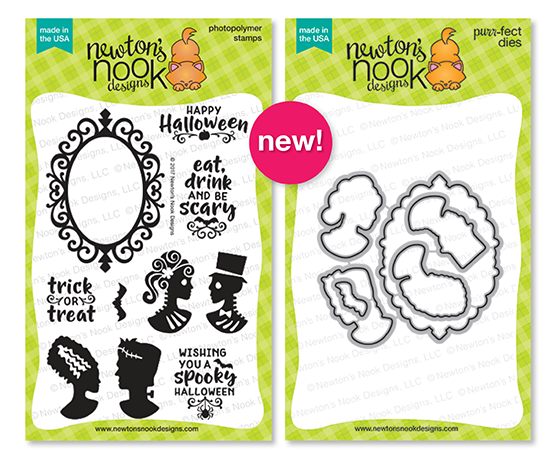 Creepy Cameos Stamp Set & Die Set by Newton's Nook Designs #newtonsnook #halloween