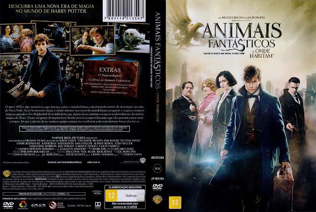Capa DVD Animais Fantásticos e Onde Habitam (Oficial)