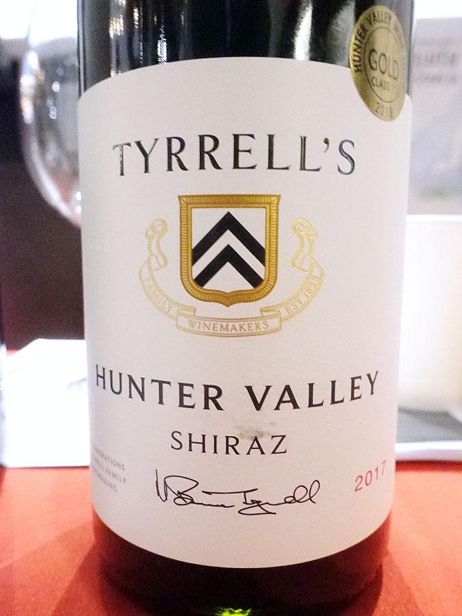 Tyrrell's Hunter Valley Shiraz 2017 (90+ pts)