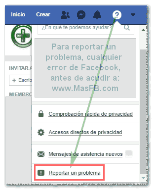 Cómo reportar un problema en Facebook - MasFB
