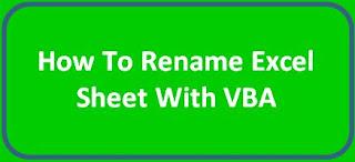 من اهم مهارات الاكسل المتقدم | تغيير اسم ورقة العمل بطريقة اكثر احترافية  Excel VBA| Rename sheets in excel