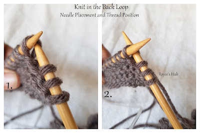 KNIT IN THE BACK LOOP