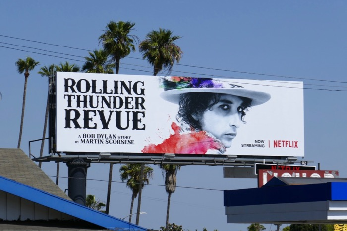 Bob Dylan Rolling Thunder Revue billboard