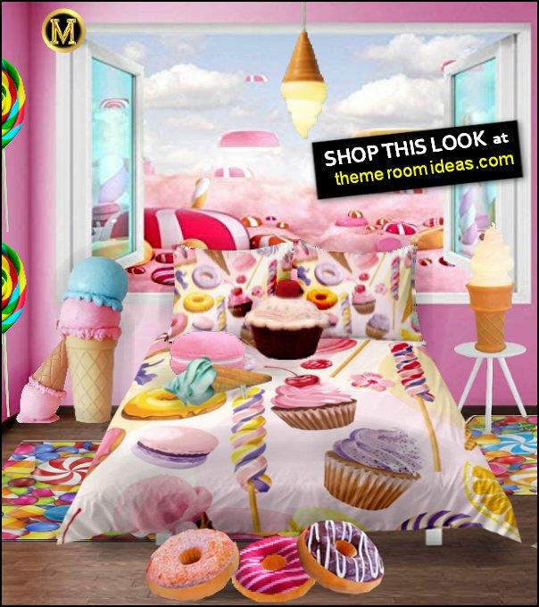 Dessert  bedding Ice Cream Pendant Lights  Ice Cream Cone Prop Decoration  Donut pillows  Macaron pillows