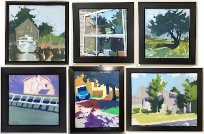 Framed paintings by Barb Mowery