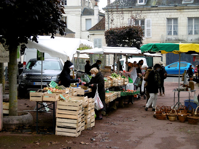 Preuilly sur Claise market, Indre et Loire, France. Photo by Loire Valley Time Travel.