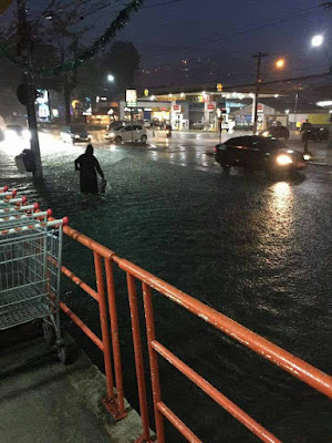 Chuva de 75mm em uma hora alagou vários bairros de Teresópolis