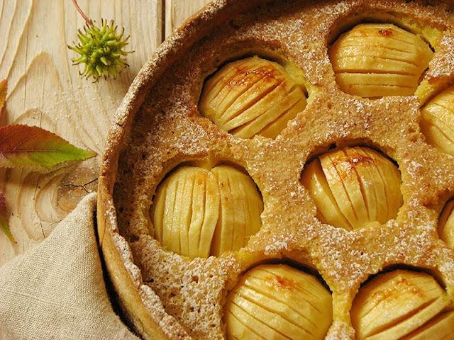 recette bio de gâteau à la pomme et à la frangipane