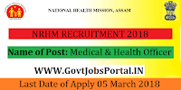 Assam National Health Mission Recruitment – 462 Medical & Health Officer