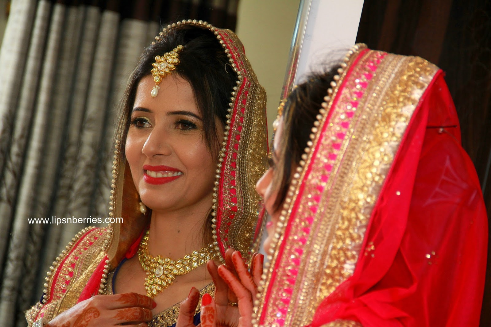 Indian Bridal Makeup- My first ever!   LIPS n BERRIES!