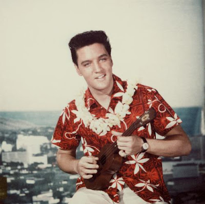Elvis with ukulele