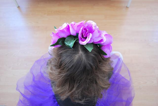 diadema de flores fácil de hacer