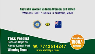Who will win Today Womens, 3rd T20 Match IN-W vs AU-W - Cricfrog
